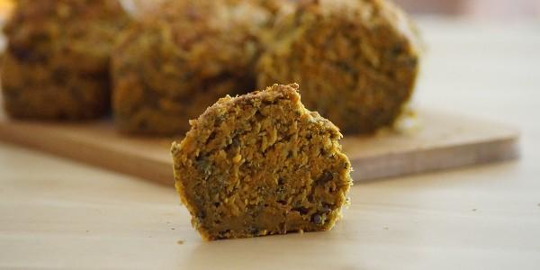 Mini cakes sarrasin carotte ortie -Vegan-