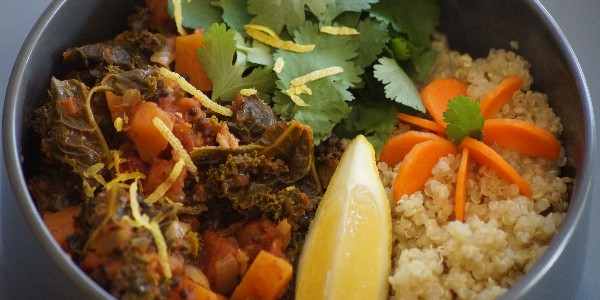 Curry de chou kale vegan (végétalien)