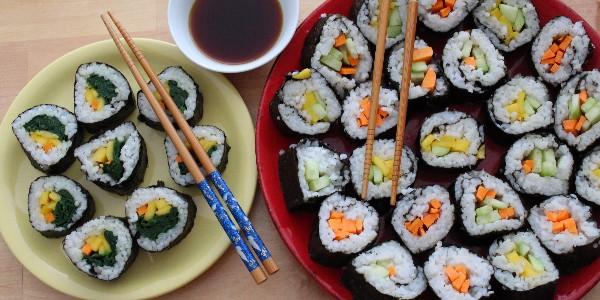 Makis/sushis végétaliens (vegan)
