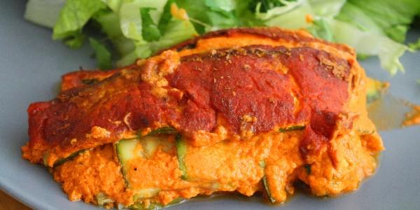 Courgettes en gratin – végétalien (vegan)